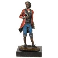 Statue en bronze compositeur Mozart 21 cm