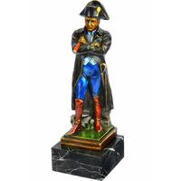 Statue en bronze peint Napoléon avec une longue-vue