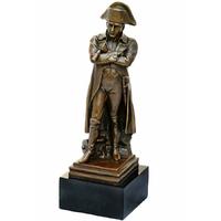 Statue en bronze Napoléon avec une longue-vue