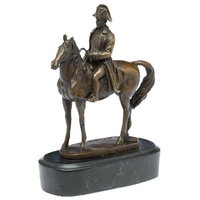 Statue en bronze Napoléon sur son cheval 18 cm