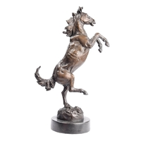 Statue en bronze de cheval cabré 34 cm