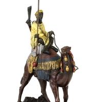 Statue en bronze bédouin sur un dromadaire 32 cm