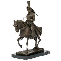 Statue en bronze chevalier en armure 31 cm