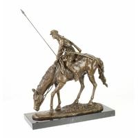 Statue en bronze cosaque sur un cheval 44 cm