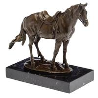 Statue en bronze cheval pur sang arabe 28 cm