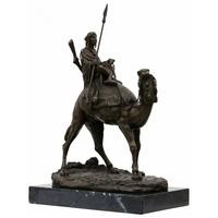 Statue en bronze bédouin guerrier 37 cm