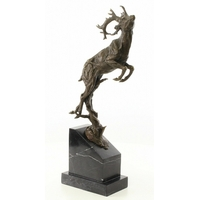 Statue en bronze cerf bondissant 49 cm