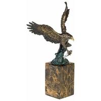 Statue en bronze aigle royal 36 cm
