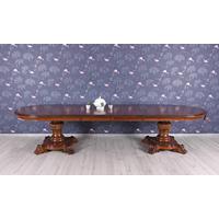 Table repas ovale style victorien en acajou Preston