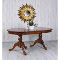 Table repas ovale 180 cm style anglais victorien en acajou Oxford