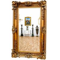 Miroir baroque cadre en bois doré 156x95 cm Romagnes