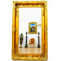 Grand miroir baroque 150x90 cm cadre en bois doré Beauregard