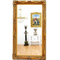 Miroir baroque cadre en bois doré 138x78 cm Rougemont