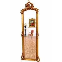 Miroir baroque cadre en bois doré 178x58 cm Najac