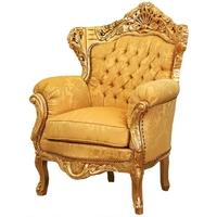 Fauteuil rococo royal en bois doré Hambourg