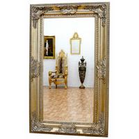 Miroir baroque cadre en bois argenté 156x95 cm