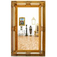 Miroir rocaille cadre en bois doré et blanc 160x98 cm Posanges