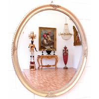 Miroir Louis-Philippe cadre en bois argenté 67x57cm