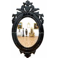 Miroir baroque vénitien cadre noir