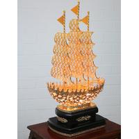 Lampe sur pied bateau en cristal et laiton Madere