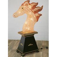 Lampe sur pied cheval en cristal 160 cm Marengo