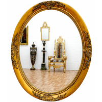 Miroirs baroque classic stores for Miroir baroque noir ovale