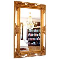 Miroir rocaille cadre en bois doré et blanc 154x94 cm Kermaria