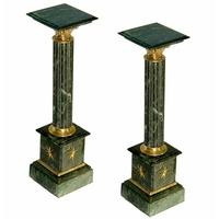 Paire de colonnes en marbre vert 100 cm