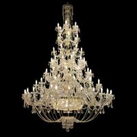 Lustre baroque en cristal de Bohême Wranovsky Ricamente 87 feux