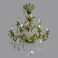 Lustre baroque en cristal de Bohême Wranovsky Acamar 12 feux