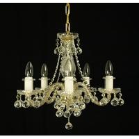 Lustre baroque en cristal de Bohême Wranovsky Grace 5 feux