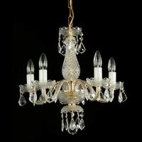 Lustre baroque en cristal de Bohême Wranovsky Savoir-Faire 5 feux