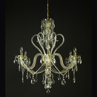 Lustre baroque en cristal de Bohême Wranovsky Del Cigno 6 feux