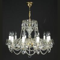 Lustre baroque en cristal de Bohême Wranovsky Flammeo 10 feux