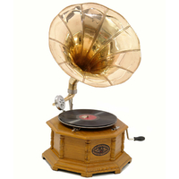 Gramophone fonctionnel octogonal