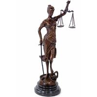 Statue de Thémis, Déesse de la Justice, en bronze 41 cm