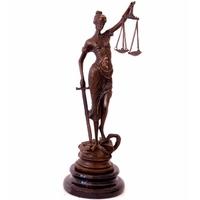 Statue en bronze de Thémis, Déesse de la Justice, 24 cm