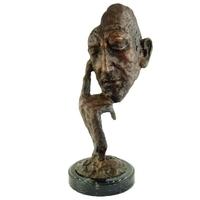 Statue en bronze masque 32 cm