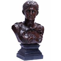Buste en bronze Empereur romain Auguste 86 cm
