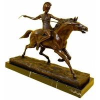 Statue en bronze amazone 40 cm