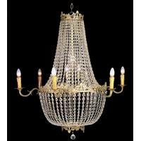Lustre montgolfière Napoléon en cristal 16 feux Talcy
