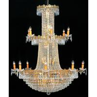 Lustre montgolfière en cristal style Empire 38 feux Langeais