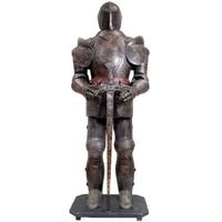 Armure médiévale chevalier noir 185 cm Coucy