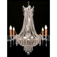 Lustre en cristal style Napoléon Loches argent