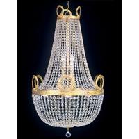 Lustre montgolfière en cristal style Napoléon Ferrières