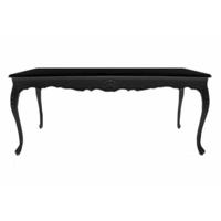 Table salle à manger baroque en hêtre noir 200x100cm Oslo