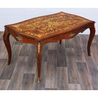 Table salle à manger style Louis XV en marqueterie 160x100cm Montois
