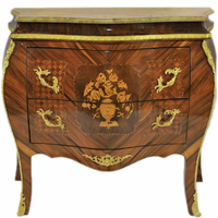 Commode style Louis XV en marqueterie de noyer et d'amarante Billy