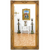 Miroir baroque en bois doré 234x134cm Aucors
