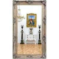 Miroir baroque en bois argenté patiné 234x134cm Aucors